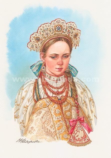 Рисунок русский народный костюм   коллекция фото (18 картинок) (2)