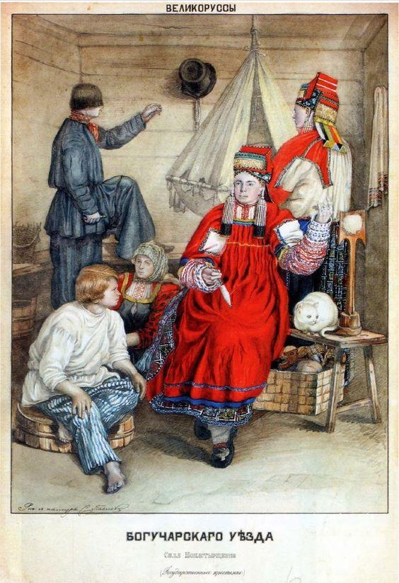 Рисунок русский народный костюм   коллекция фото (18 картинок) (3)