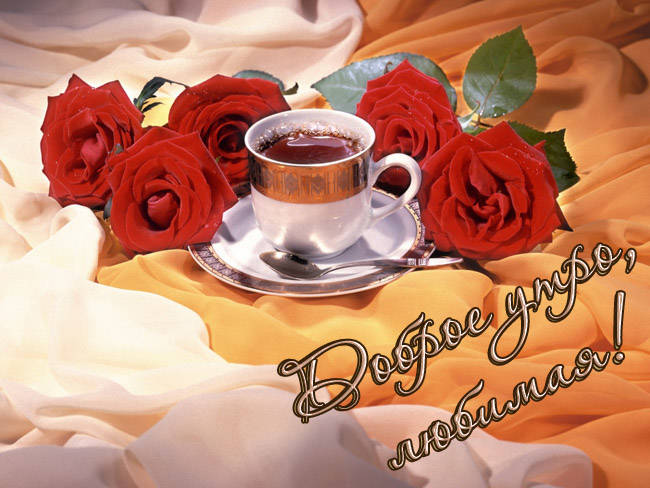 Днем рождения, открытка доброе утро любимая женщина