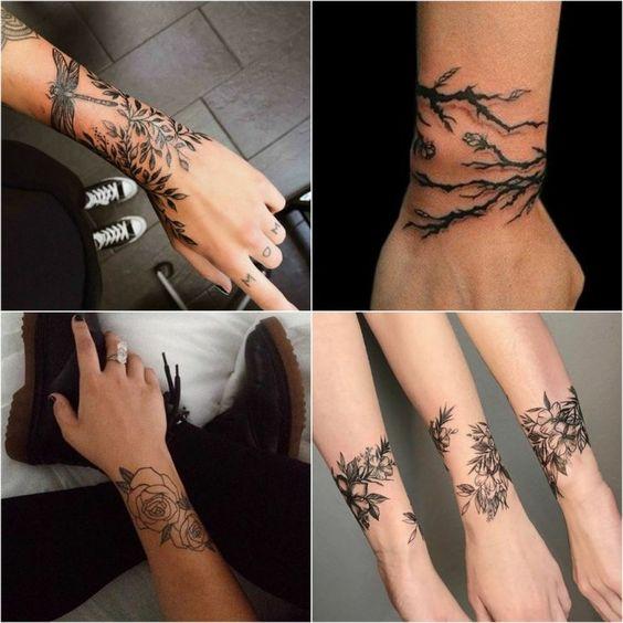 Татуировки на запястье для девушек   красивые (21 картинка) (19)