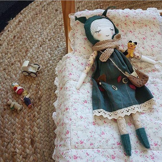 Текстильные куклы ручной работы и выкройки к ним   сборка (27 картинок) (14)