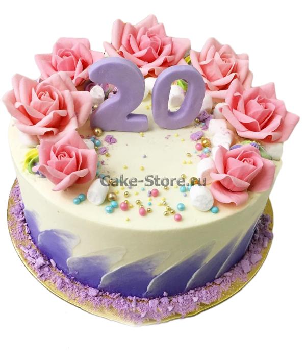Торты на День Рождения на 20 лет — подборка фото (10)