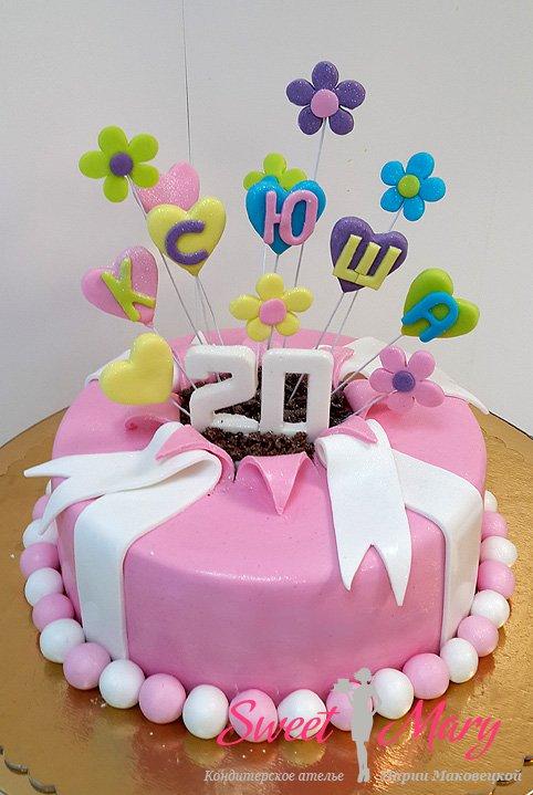 Торты на День Рождения на 20 лет — подборка фото (3)
