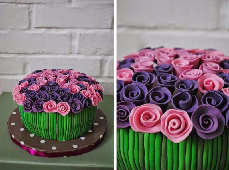 Торт на День Рождения женщине из мастики   очень вкусные (23)