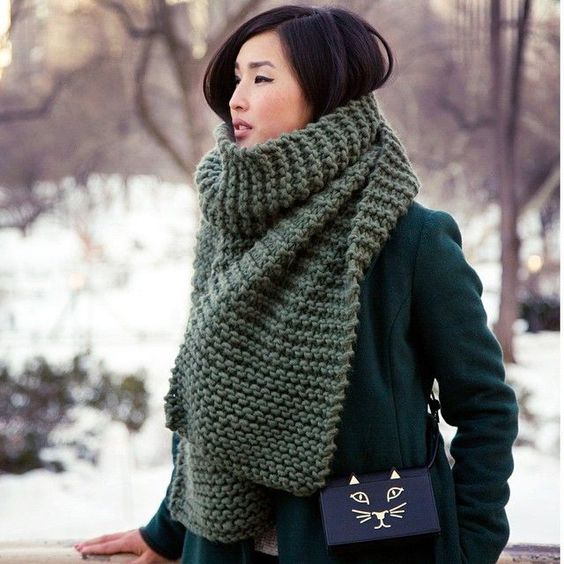 Узоры спицами для шарфа   уникальные картинки (24 штуки) (1)