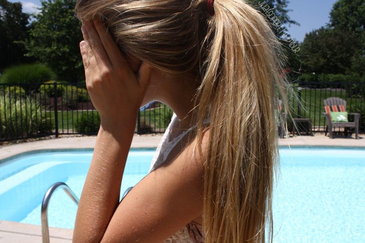 Фото девушек без лица со светлыми волосами сборка 20 фото (7)