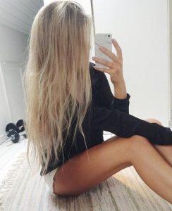 Фото девушки на аву без лица блондинки   подборка (14)