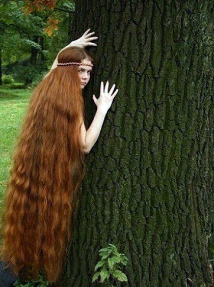 Фото красивых девушек с очень длинными волосами   подборка (18)