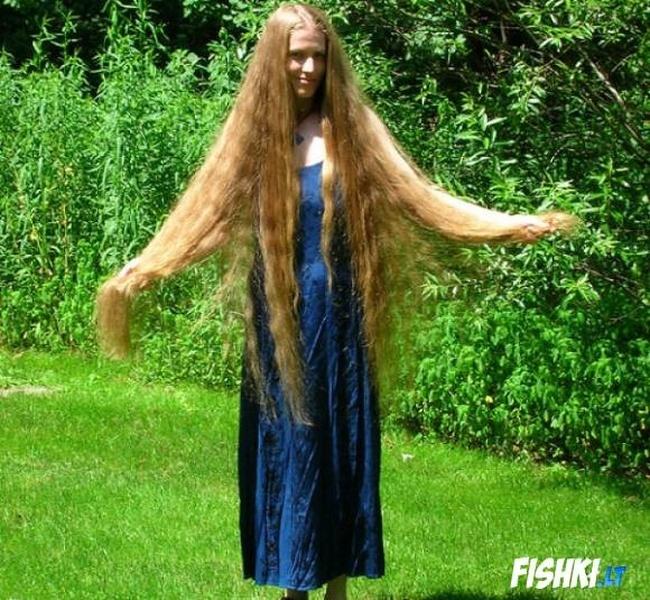 Фото красивых девушек с очень длинными волосами   подборка (19)
