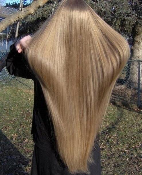 Фото красивых девушек с очень длинными волосами   подборка (21)