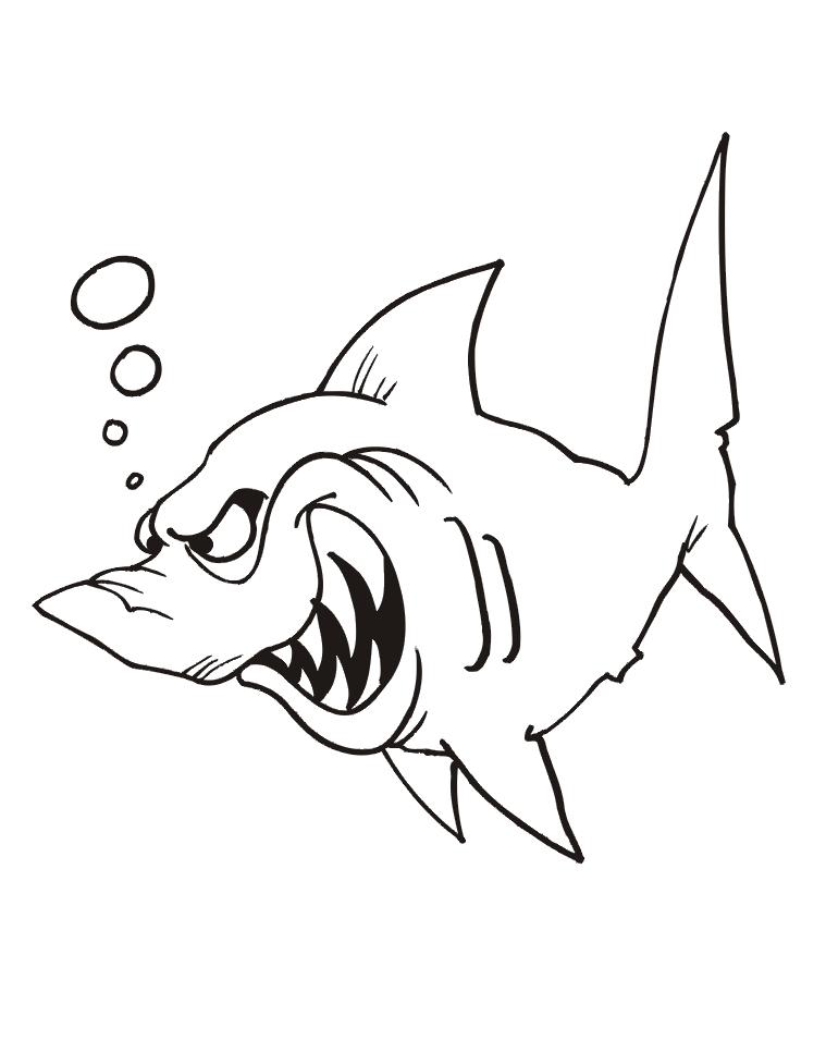Акула картинка для детей раскраска - подборка