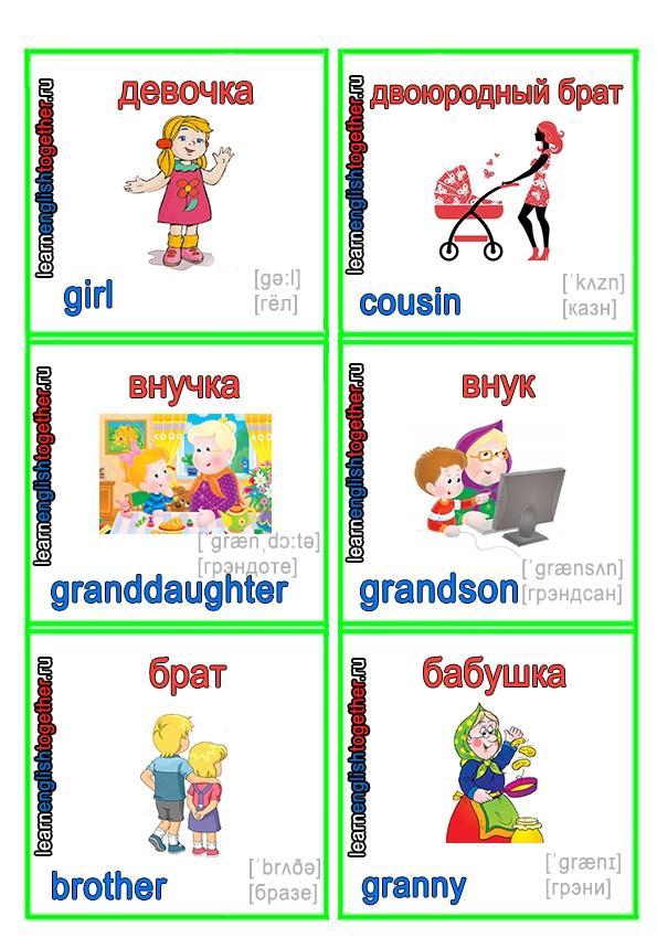 Английские слова картинки для детей   подборка 009
