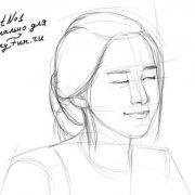 Аниме девушка с закрытыми глазами   картинки 019