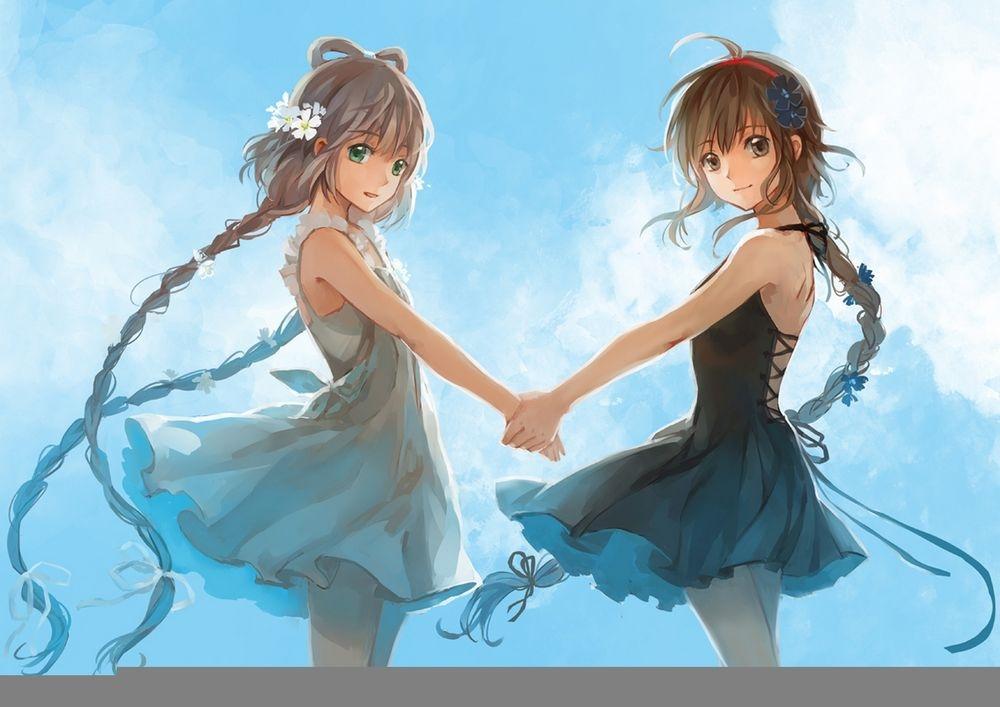 Аниме парень и девушка за руки держатся   картинки (11)