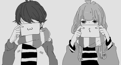 Аниме парень и девушка за руки держатся   картинки (15)