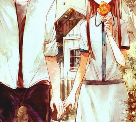 Аниме парень и девушка за руки держатся   картинки (2)