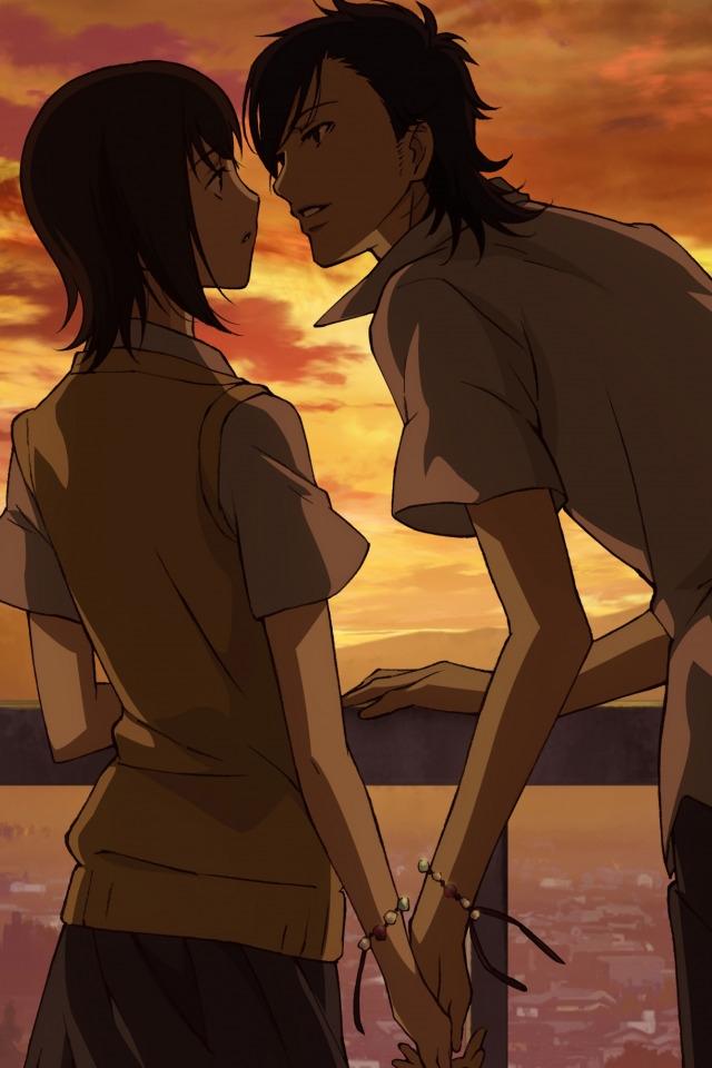Аниме парень и девушка за руки держатся   картинки (23)
