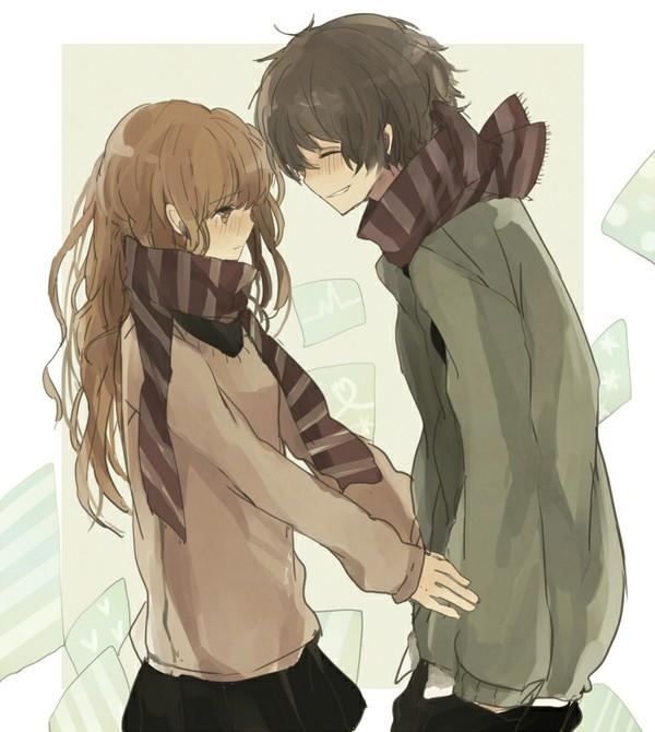 Аниме парень и девушка за руки держатся   картинки (3)