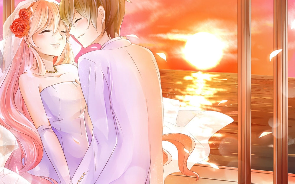 Аниме парень и девушка за руки держатся   картинки (6)
