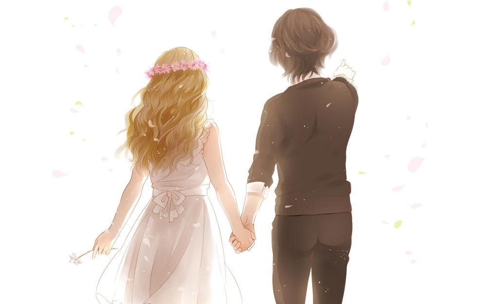 Аниме парень и девушка за руки держатся   картинки (9)
