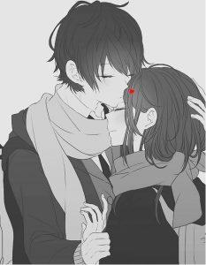 Аниме парень и девушка поцелуй   картинки 028