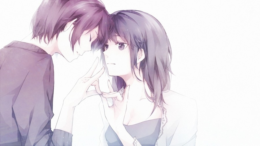 Аниме парень и девушка с белыми волосами   сборка картинок (20)