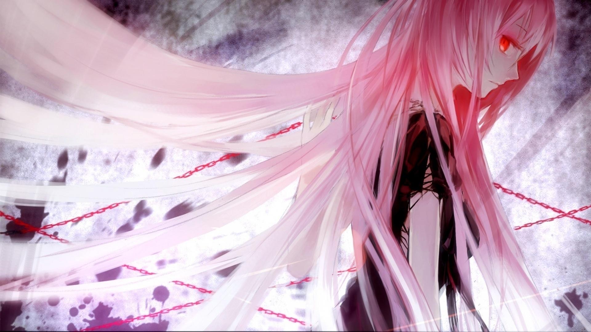 Аниме с розовыми волосами и розовыми глазами   картинки (31)