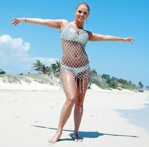 Анна Семенович на пляже   фото 008