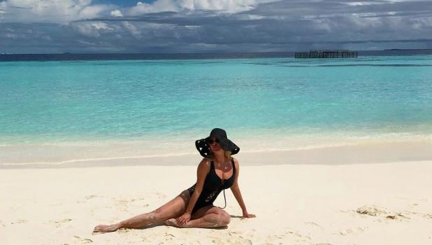 Анна Семенович на пляже   фото 023