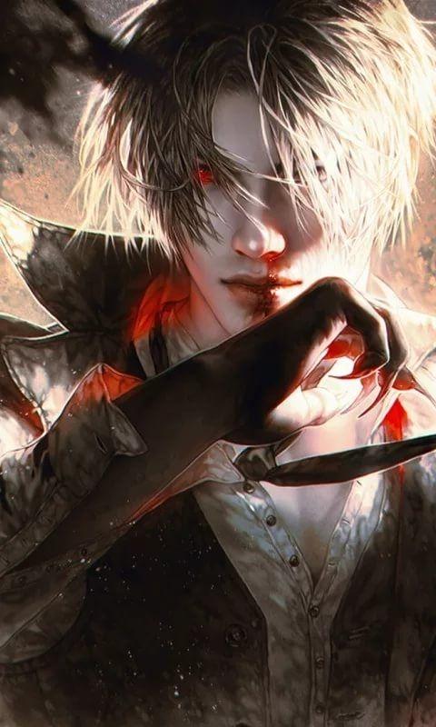Арты демоны аниме   красивые картинки005