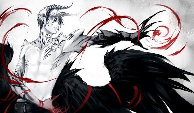 Арты демоны аниме   красивые картинки013