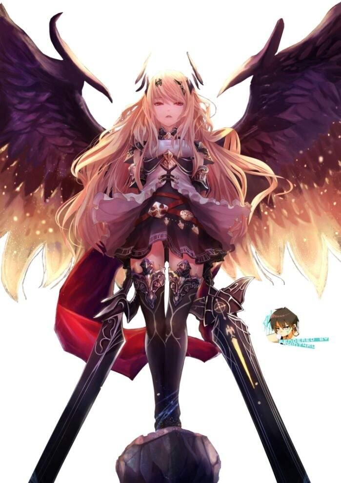 Арты демоны аниме   красивые картинки027