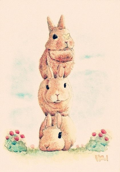 Арт кролики красивые картинки009