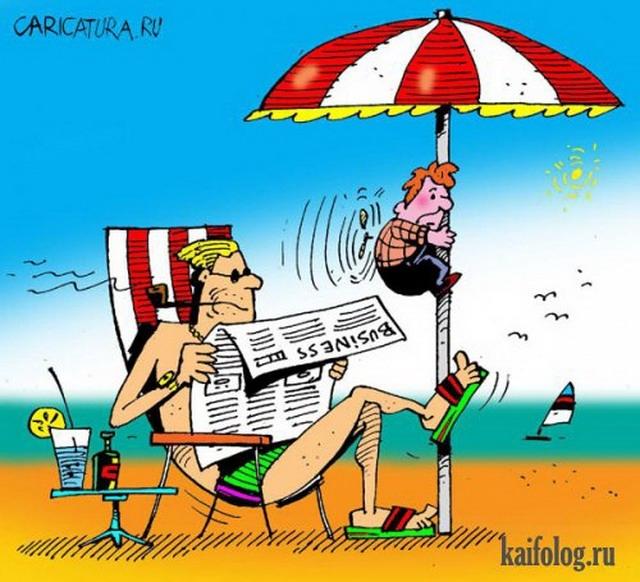 Анекдоты про лето в картинках