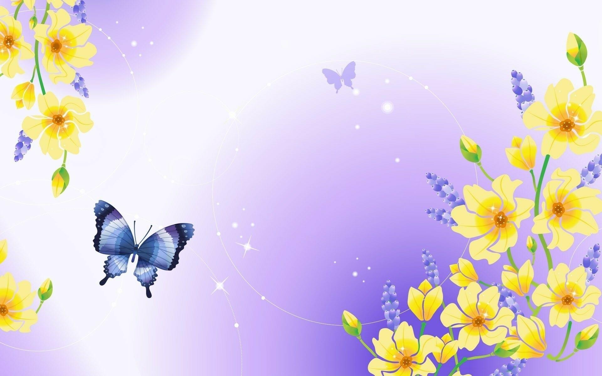 Бабочки в открытки, картинки цветами