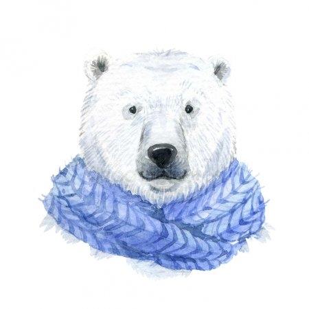 Белый медведь рисунок для детей 027