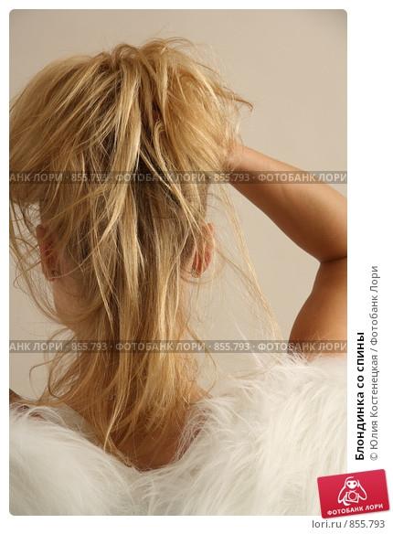 Блондинка спиной с цветами   красивые фото (22)