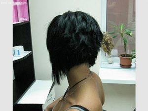 Брюнетки девушки с каре   фото со спины (14)