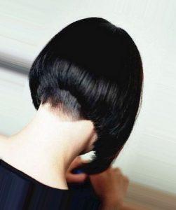 Брюнетки со спины средние волосы   фото 024
