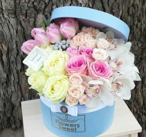Букеты цветов в коробках картинки и фото 029