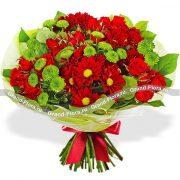 Букет из кустовых роз и кустовых хризантем   фото (20)