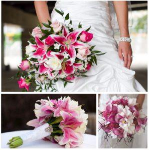 Букет невесты из лилий и роз   фото (22)