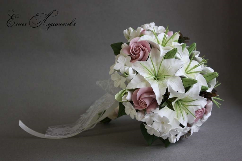 Зефира клубники, букет невесты из лилий и роз