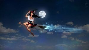 Ведьмочка на метле картинки и изображения 028