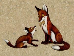 Веселая лисичка картинки и иллюстрации 020