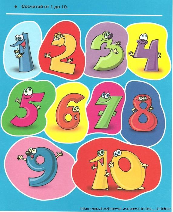 Смешные картинки цифры для детей от 1 до 10, природа летом картинки