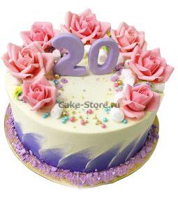 Вкусный торт для девушки на 20 лет   фото (15)