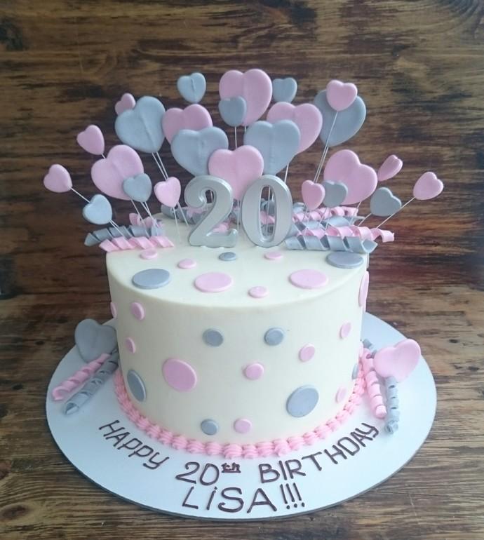 Вкусный торт для девушки на 20 лет   фото (16)