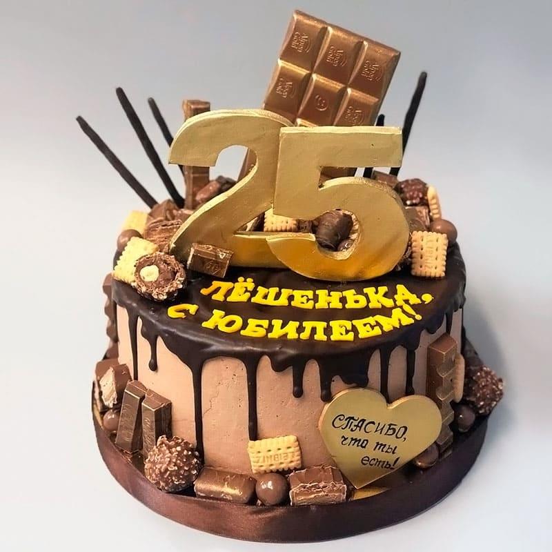 Вкусный торт мужчине на 25 лет   фото 001