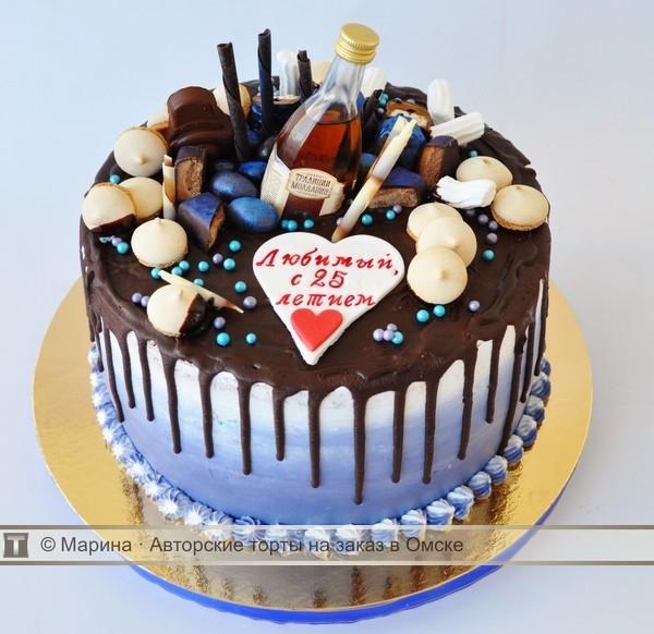 Вкусный торт мужчине на 25 лет   фото 002